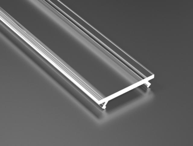 LED21 Transparentní PMMA difuzor KLIK pro profily LUMINES A/B/C/D/G/H/Z/Y 1m